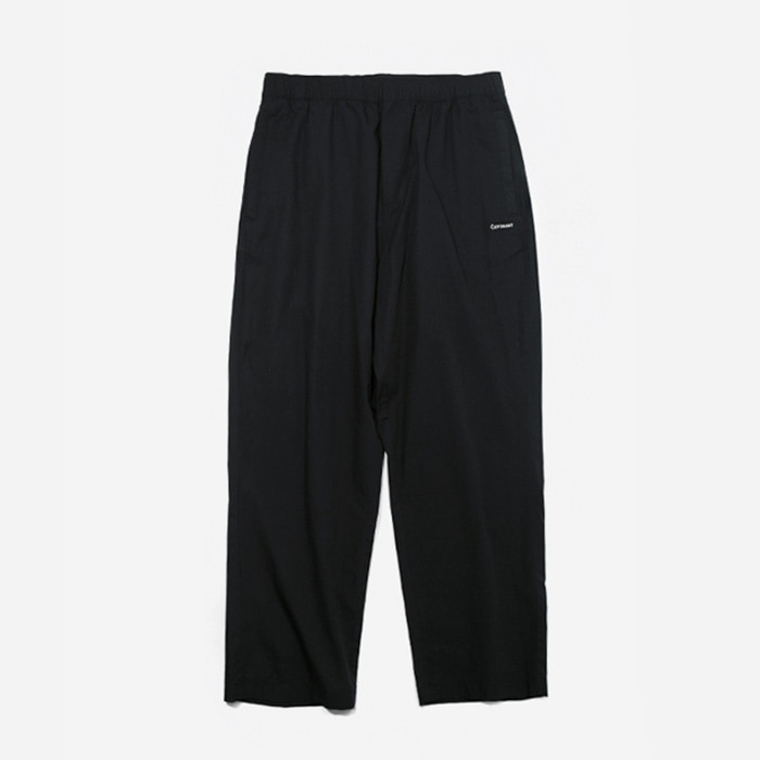커버낫 팬츠 COMPACT COTTON EASY PANTS BLACK