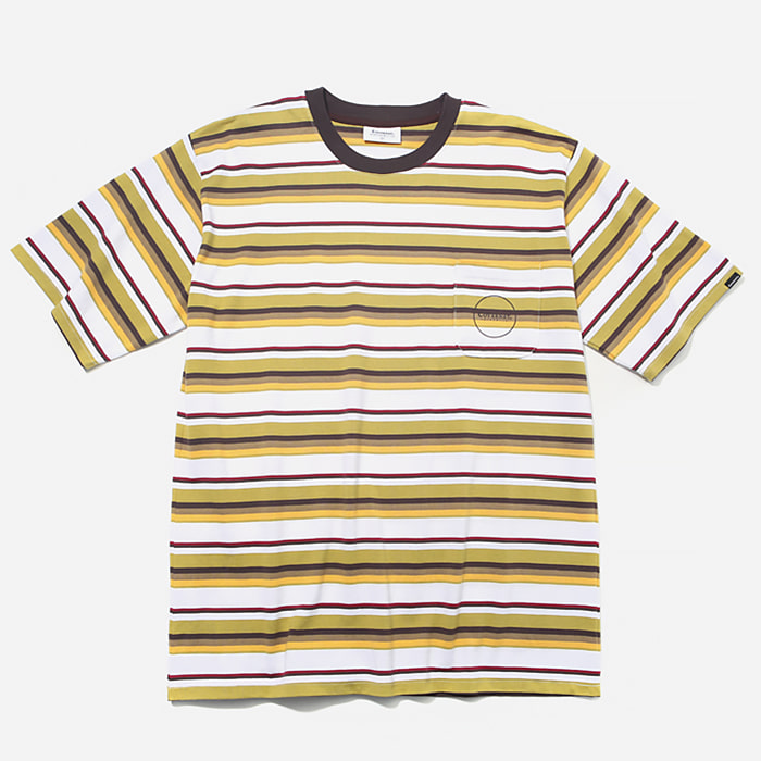 커버낫 티셔츠 1PK MULTI STRIPE TEE YELLOW