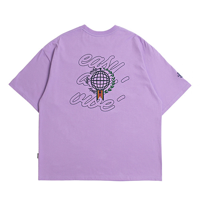 로맨틱크라운 티셔츠 EASY DAY VIBE T SHIRT Purple