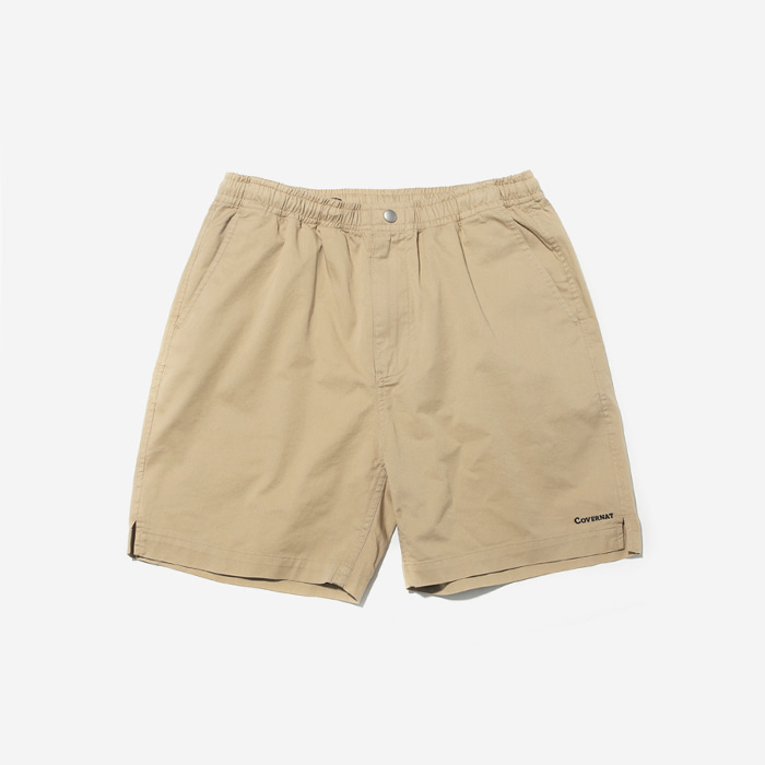 커버낫 반바지 COTTON TWILL EASY SHORTS BEIGE