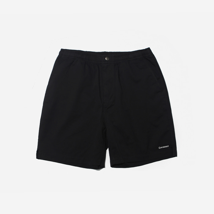 커버낫 반바지 COTTON TWILL EASY SHORTS BLACK