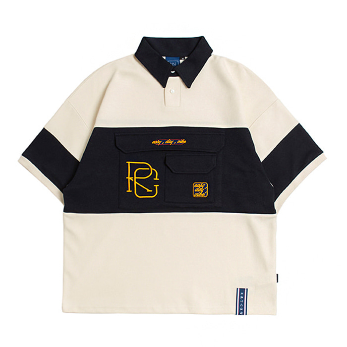 로맨틱크라운 티셔츠 RC BIG POCKET POLO SHIRT OATMEAL