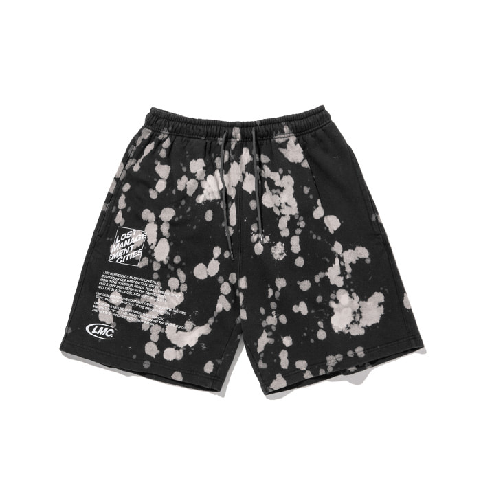 엘엠씨 반바지 LMC EXPL BLEACH SWEAT SHORTS black