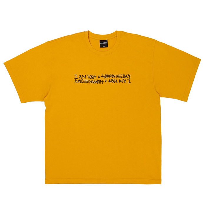 아임낫어휴먼비잉 Basic Logo Tee - DARKYELLOW