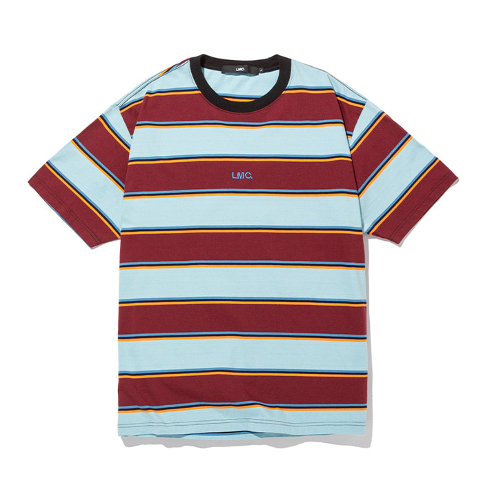 엘엠씨 티셔츠 LMC MULTI COLOR STRIPE TEE burgundy