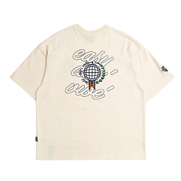 로맨틱크라운 티셔츠 EASY DAY VIBE T SHIRT OATMEAL