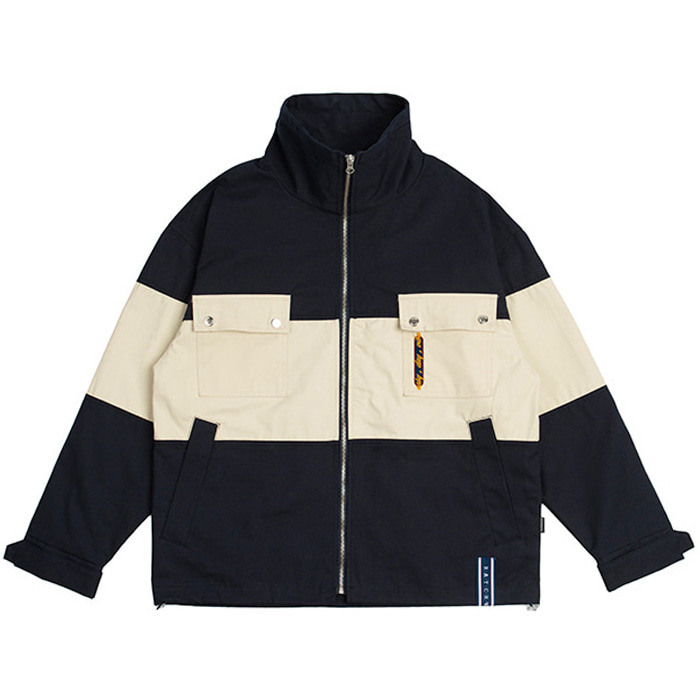 로맨틱크라운 자켓 Easy Day Vibe Combination Jacket_Navy