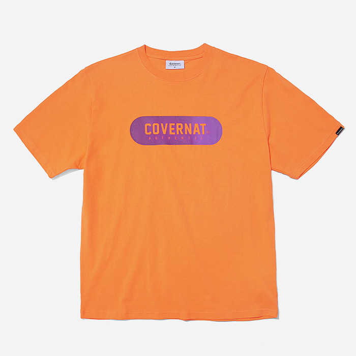 커버낫 티셔츠 S/S GRADATION JERSEY LOGO TEE ORANGE