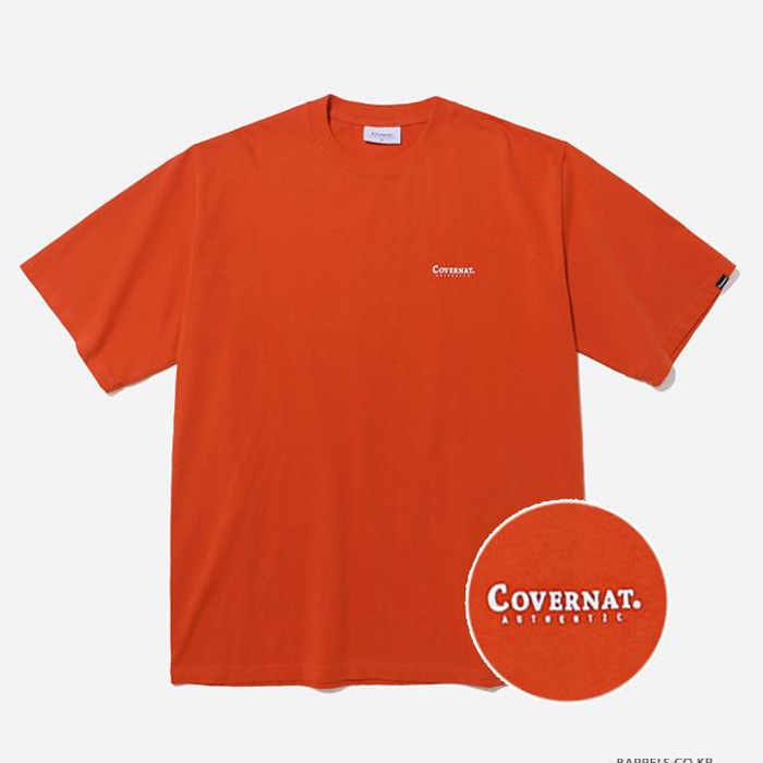 커버낫 티셔츠 S/S SMALL AUTHENTIC LOGO TEE RUST ORAGNE
