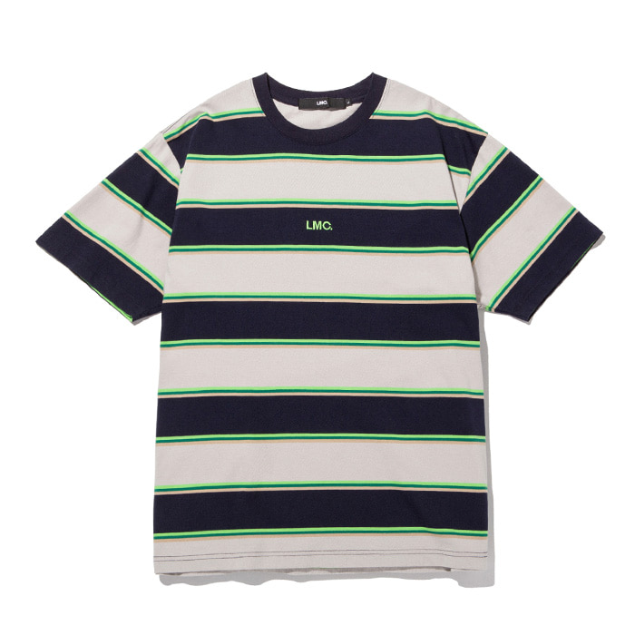 엘엠씨 티셔츠 LMC MULTI COLOR STRIPE TEE navy