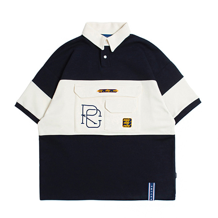 로맨틱크라운 티셔츠 RC BIG POCKET POLO SHIRT Navy