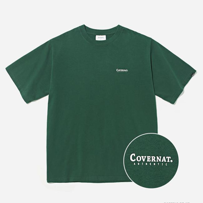 커버낫 티셔츠 S/S SMALL AUTHENTIC LOGO TEE GREEN
