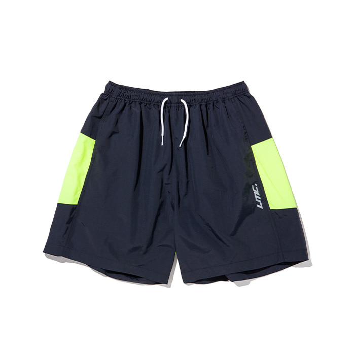 엘엠씨 반바지 LMC ZIPPER LEF TRACK SUIT SHORTS navy