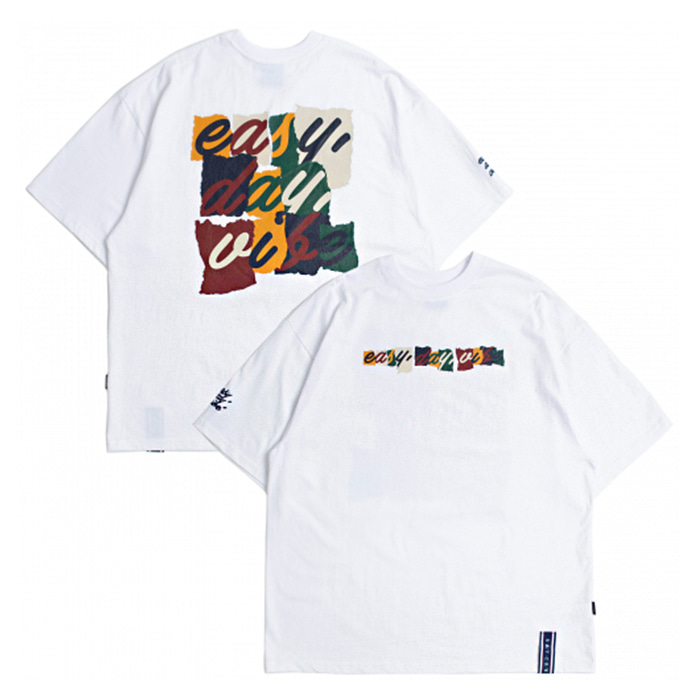 로맨틱크라운 티셔츠 E.D.V SPLINTER T SHIRT White
