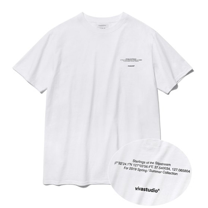 비바스튜디오 티셔츠 NEW LOCATION SHORT SLEEVE IS [WHITE]