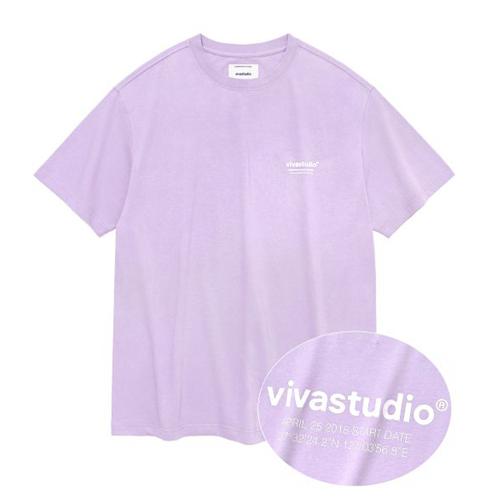 비바스튜디오 티셔츠 LOCATION LOGO SHORT SLEEVE IS [LIGHT PURPLE] 입고예정!