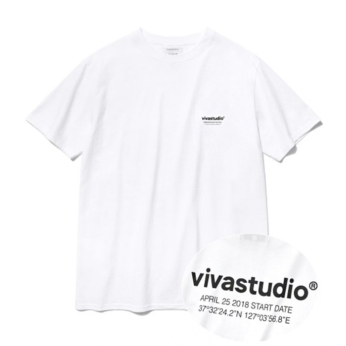 비바스튜디오 티셔츠 LOCATION LOGO SHORT SLEEVE IS [WHITE]