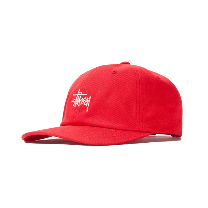 스투시 볼캡 SU19 STOCK LOW PRO CAP_Red