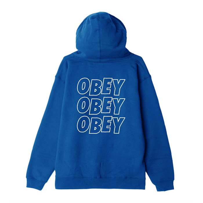 오베이 후드집업 OBEY JUMBLE LO - FI ZIP HOOD / ROYAL BLUE
