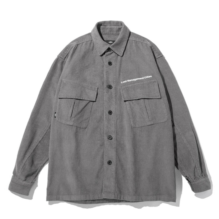 엘엠씨 LMC JF CORDUROY SHIRT dark gray