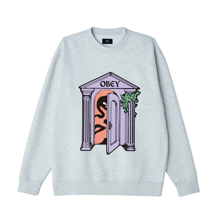 오베이 맨투맨 OBEY MAUSOLEUM CREW / ASH GREY