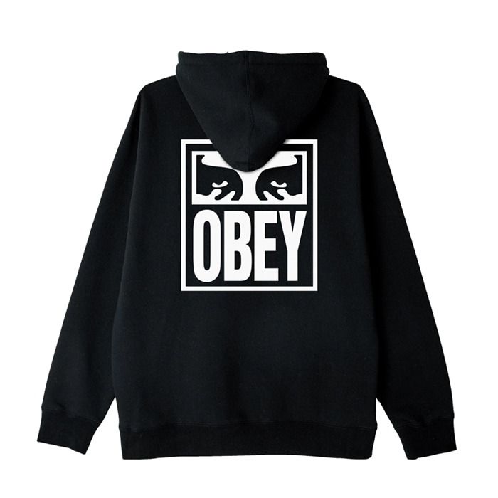 오베이 후드티 OBEY EYES ICON HOOD / BLACK