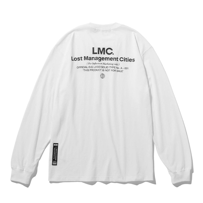 엘엠씨 롱슬리브 LMC FAKE INFLUENCER LONG SLV TEE white