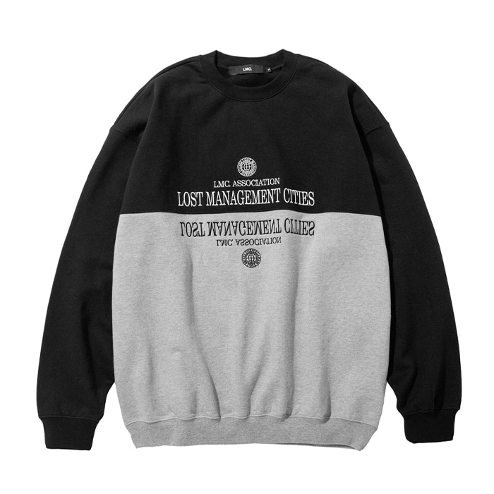 엘엠씨 맨투맨 LMC CLASSIC SPLIT OVERSIZED SWEATSHIRT black