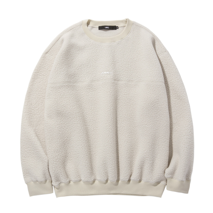 엘엠씨 맨투맨 LMC BOA FLEECE OVERSIZED SWEATSHIRT lt. beige
