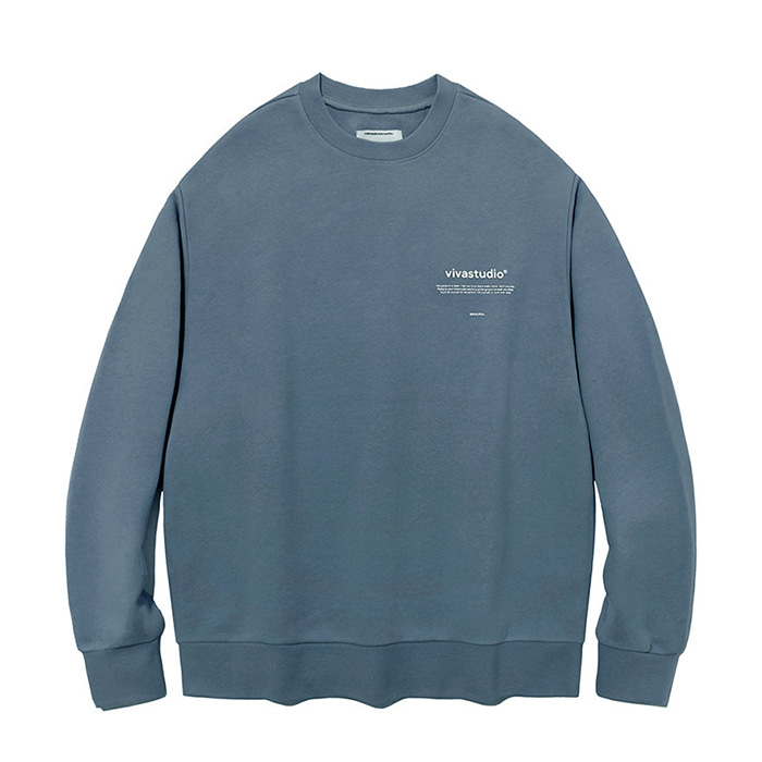비바스튜디오 맨투맨 NEW BINAURAL CREWNECK IA  [COOL GREY]