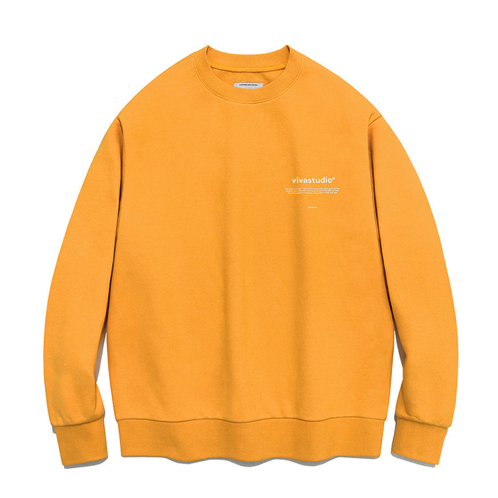 비바스튜디오 맨투맨 NEW BINAURAL CREWNECK IA [ORANGE]