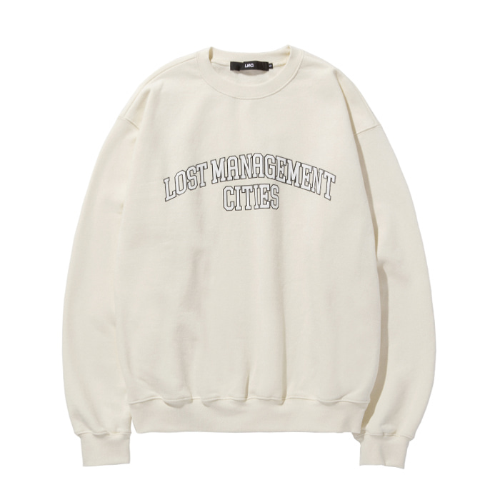 엘엠씨 맨투맨 LMC ARCH FN EDGE SWEATSHIRT cream