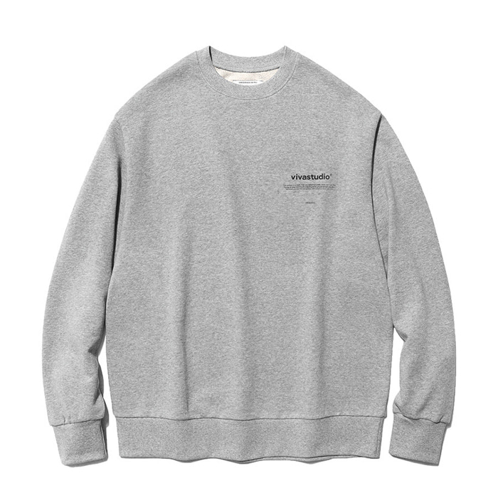 비바스튜디오 맨투맨 NEW BINAURAL CREWNECK IA[MELANGE GREY]