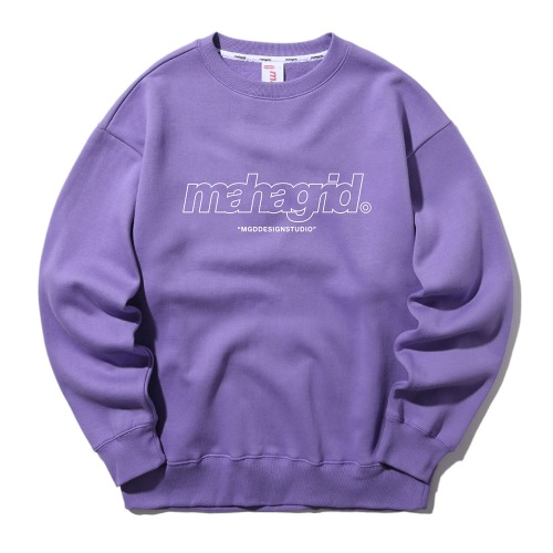 마하그리드 맨투맨 THIRD LOGO CREWNECK [PURPLE]