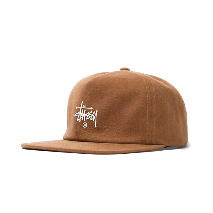스투시 SLUB COTTON STRAPBACK CAP/BROWN