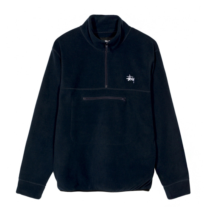 스투시 POLAR FLEECE MOCK NECK/NAVY