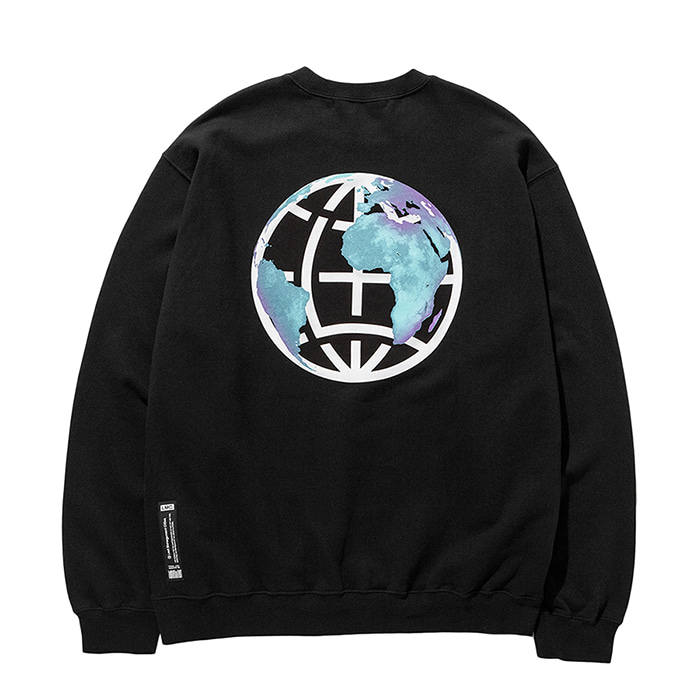 엘엠씨 맨투맨 LMC EARTH LOGO SWEATSHIRT black