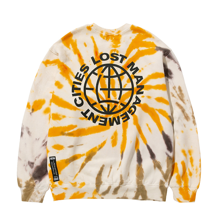 엘엠씨 맨투맨 LMC TIE DYE OG WHEEL SWEATSHIRT yellow