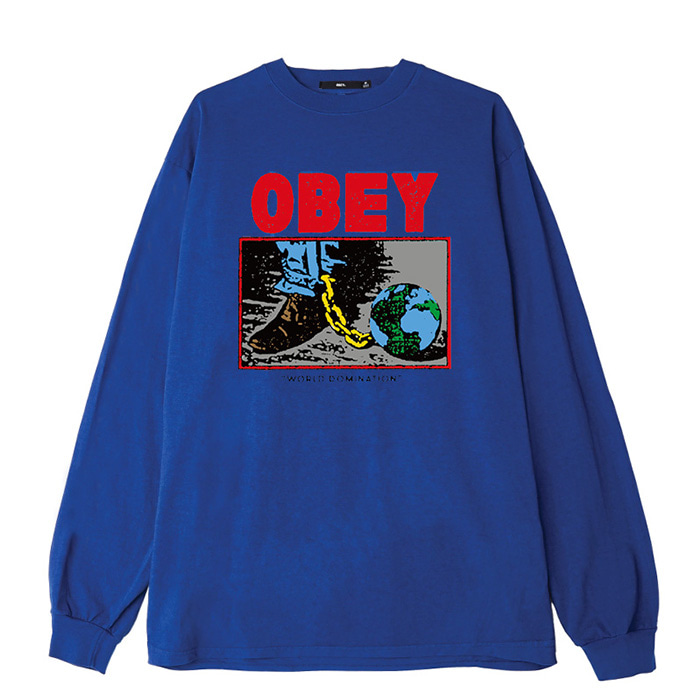 오베이 롱슬리브 OBEY WORLD DOMINATION L/S //ROYAL BLUE