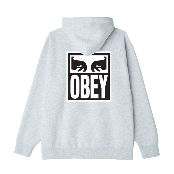 오베이 후드티 OBEY EYES ICON 2 HOOD / HEATHER ASH