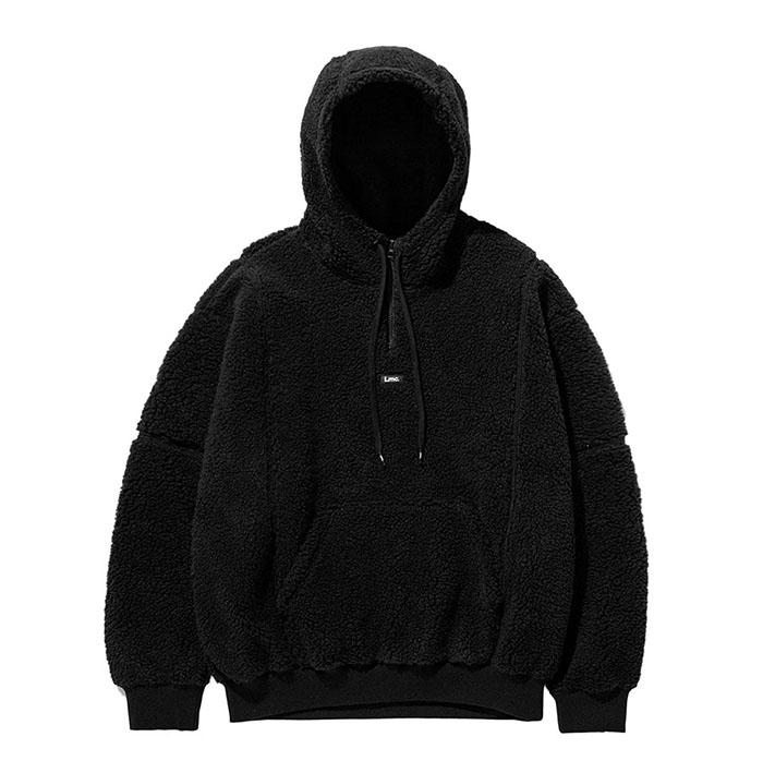 엘엠씨 후드티 LMC BOA FLEECE QUARTER ZIP HOODIE black