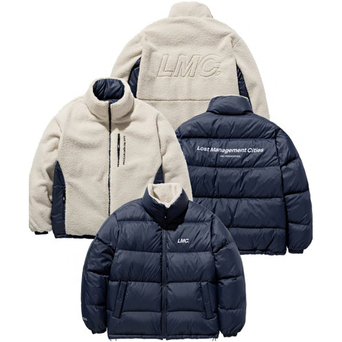 엘엠씨 자켓 LMC BOA FLEECE REVERSIBLE DOWN PARKA nv/be
