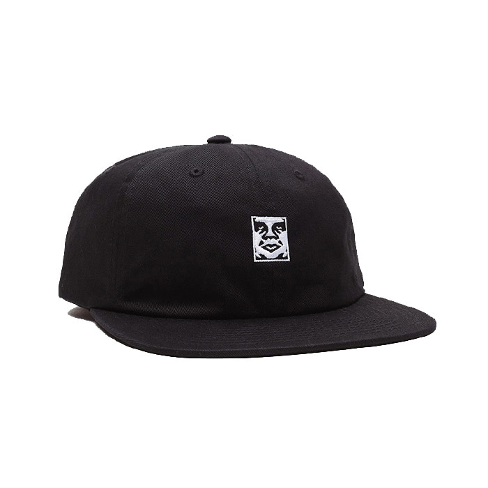 오베이 모자 ICON 6 PANEL STRAPBACK/BLACK