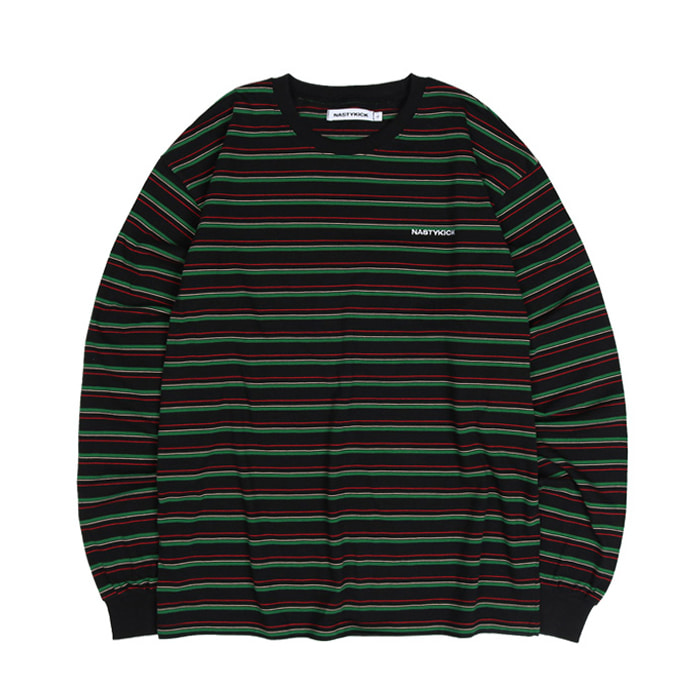 네스티킥 롱슬리브 3COLOR LONGSLEEVE TEE/BLACK