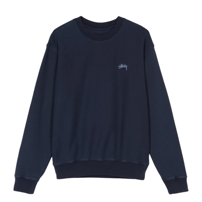 스투시 맨투맨 Stock Logo Crew/ NAVY