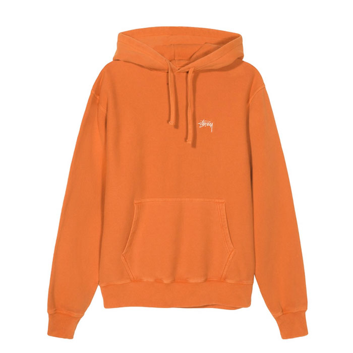 스투시 후드티 Stock Logo Hood/Orange