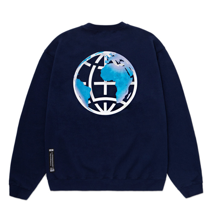 엘엠씨 맨투맨 LMC EARTH LOGO SWEATSHIRT navy