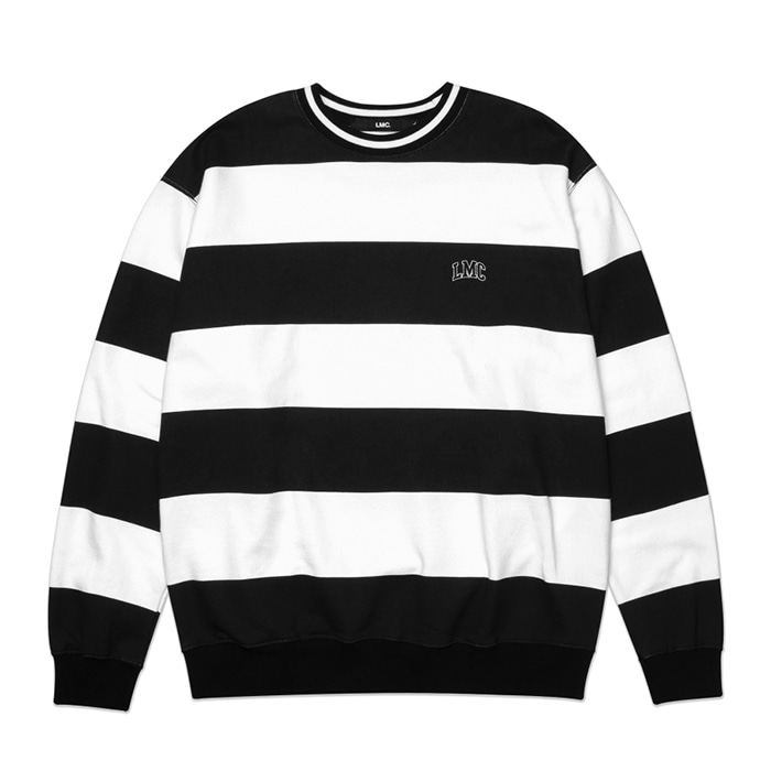 엘엠씨 맨투맨 LMC PRINTED STRIPE SWEATSHIRT black