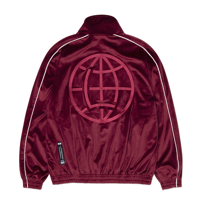 엘엠씨 LMC VELOUR TRACK TOP burgundy