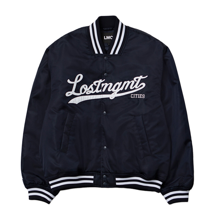 엘엠씨 자켓 LMC EMB BASEBALL JACKET navy